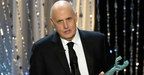 LOS ANGELES, CA - JANUARY 30: Actor Jeffrey Tambor accepts Outstanding Performance by a Male Actor in a Comedy Series for 'Transparent' onstage during the 22nd Annual Screen Actors Guild Awards at The Shrine Auditorium on January 30, 2016 in Los Angeles, California. (Photo by Kevork Djansezian/Getty Images)